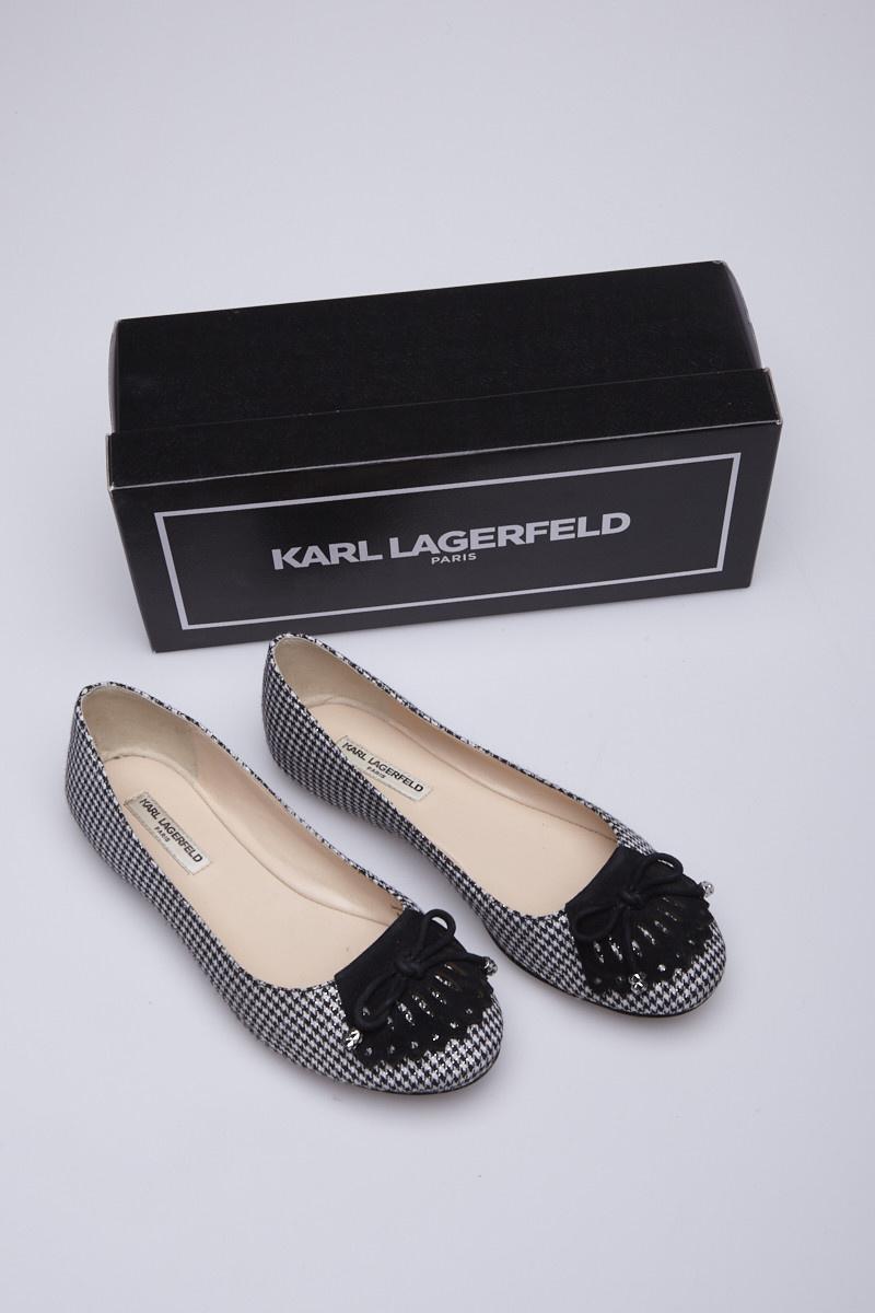 Karl Lagerfeld Lasalle2 Houndstooth Flats