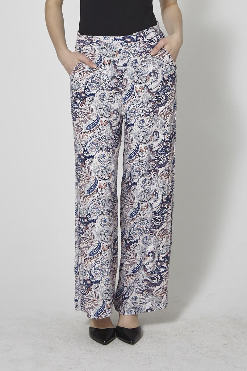 Soaked in Luxury Paisley-Print Wide-Leg Pants