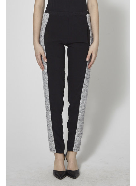 Marigold BLACK TWEED-PANELED TRACK PANTS - WITH TAG