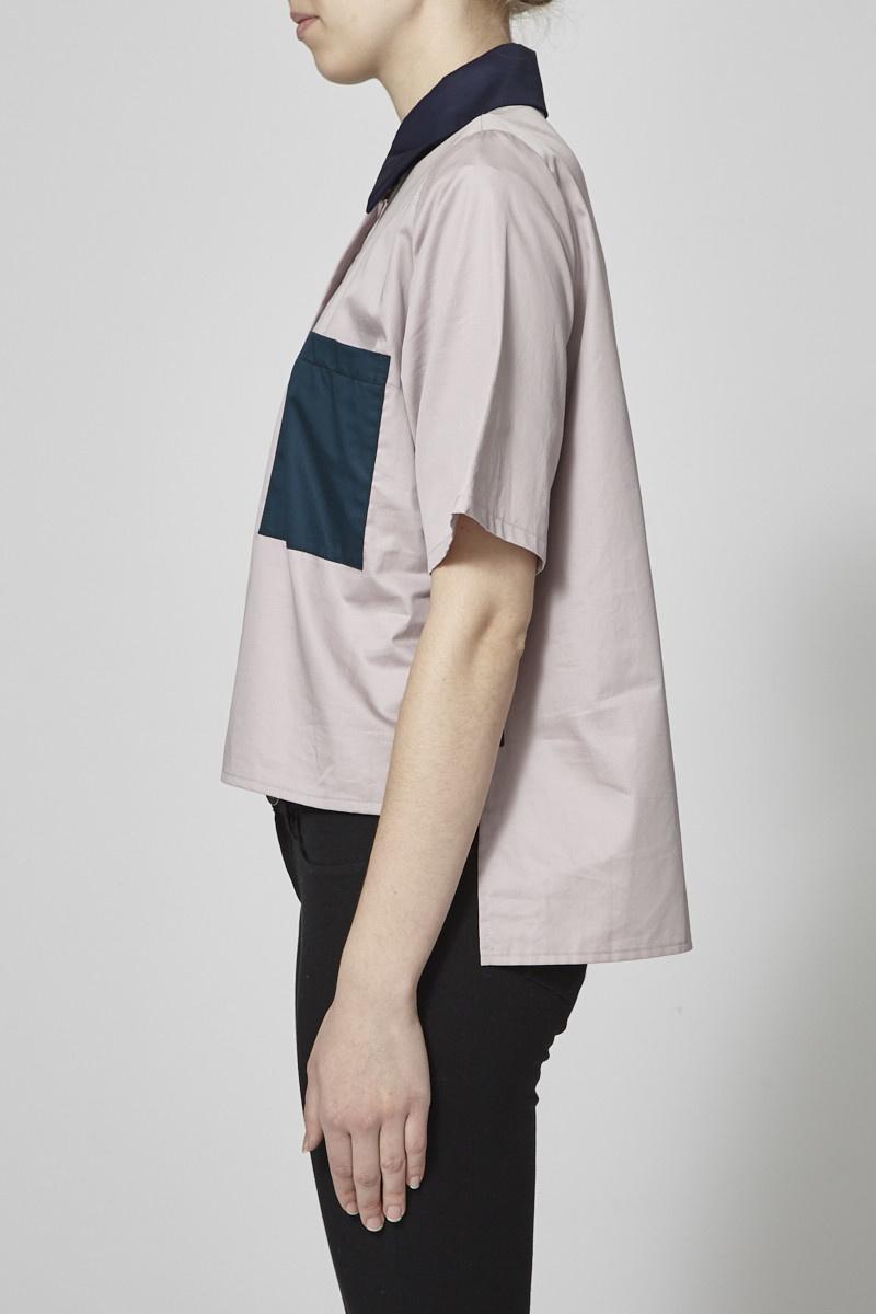 Marigold Chemise lila à poches vertes - Neuf