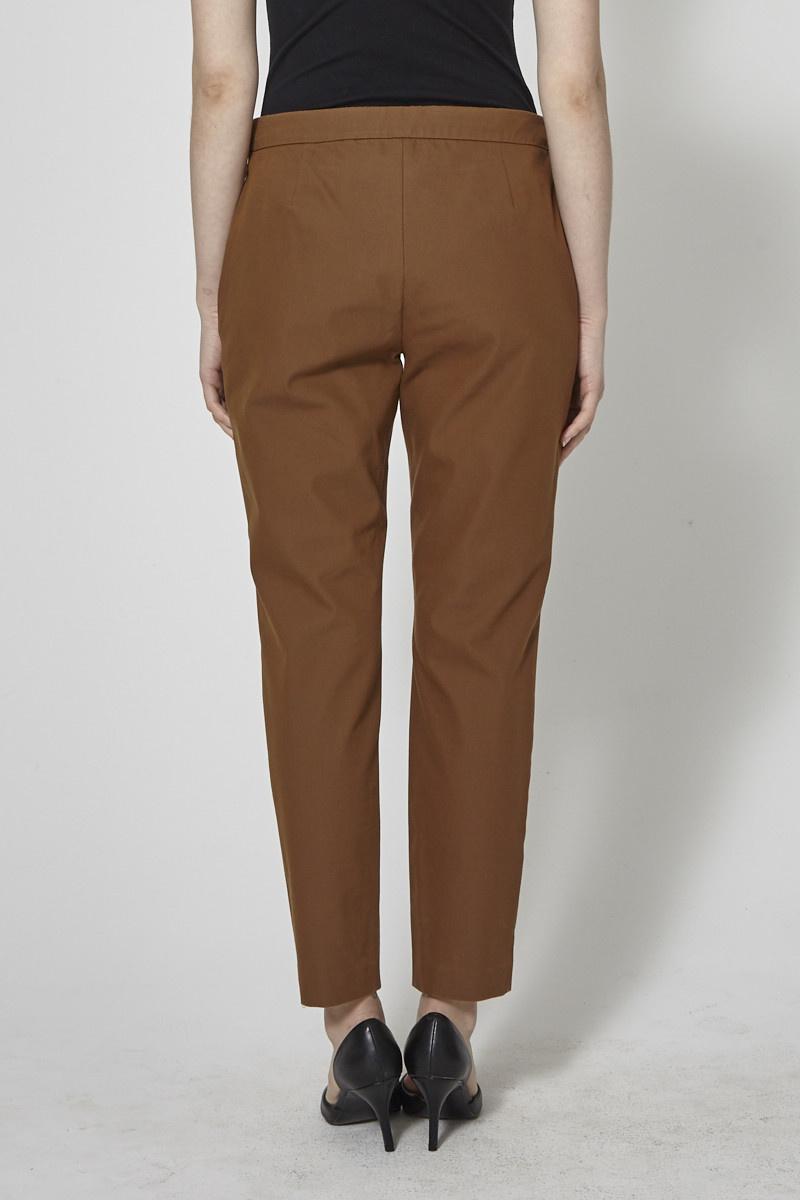 Theory Brown Elastic Waistband Pants