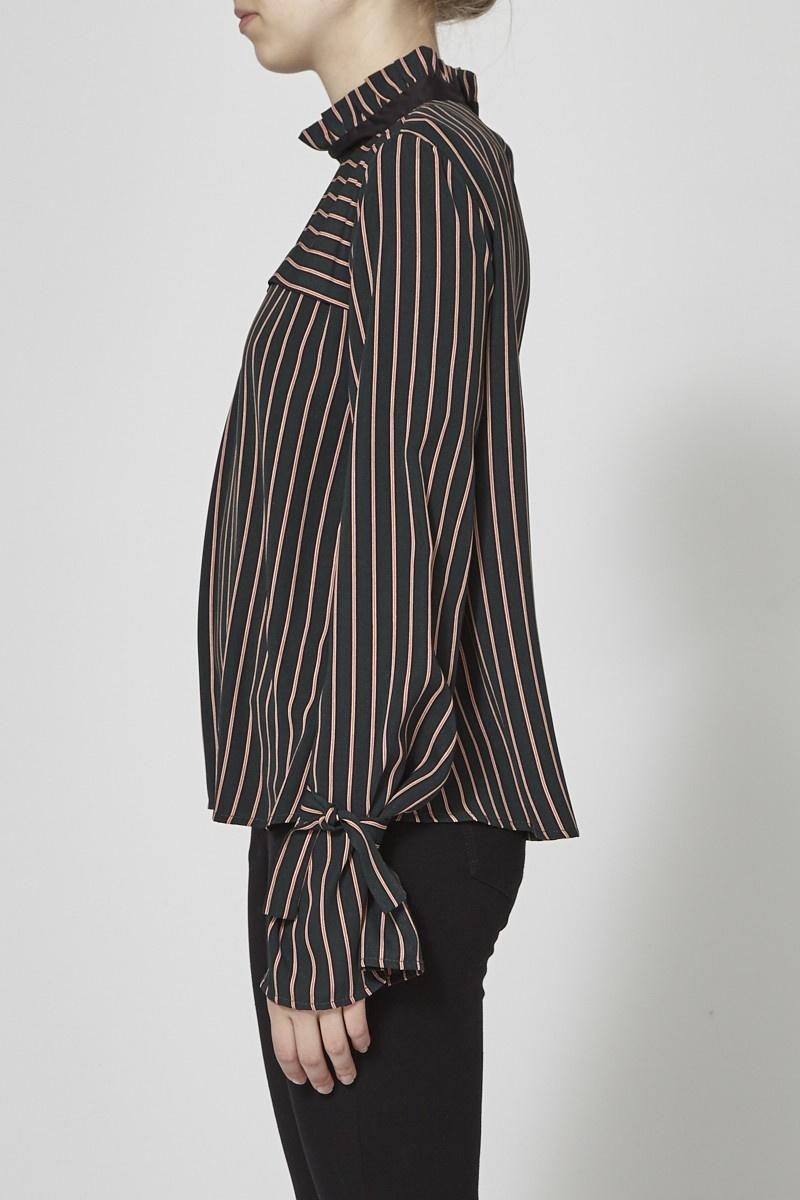 Marigold Elizabeth Emerald Striped Top - New