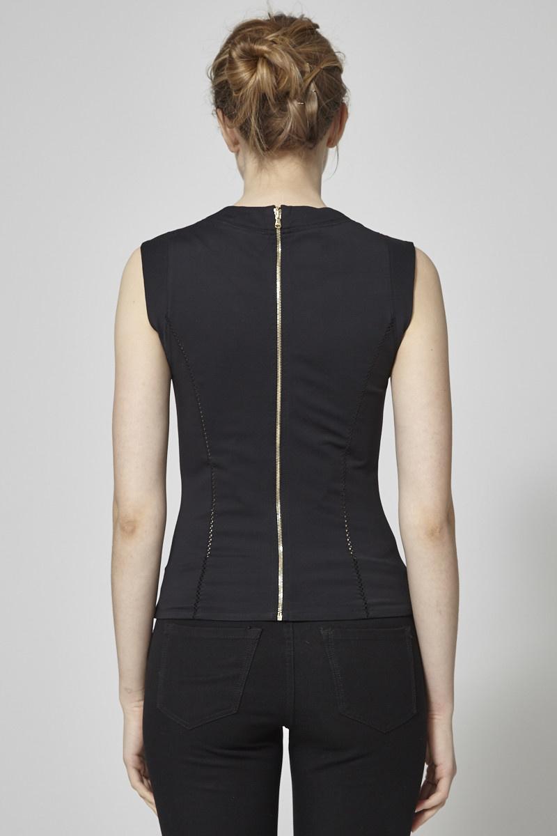 Dolce & Gabbana Haut noir style corset