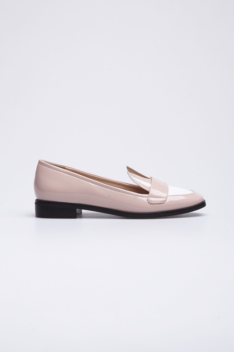 ViVi Fleurs Pink and White Leather Loafers with Rabbit Ears