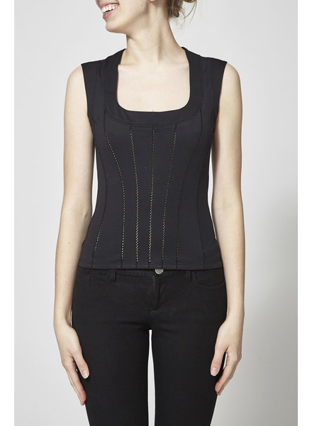 Dolce & Gabbana BLACK TOP CORSET STYLE - WITH TAG