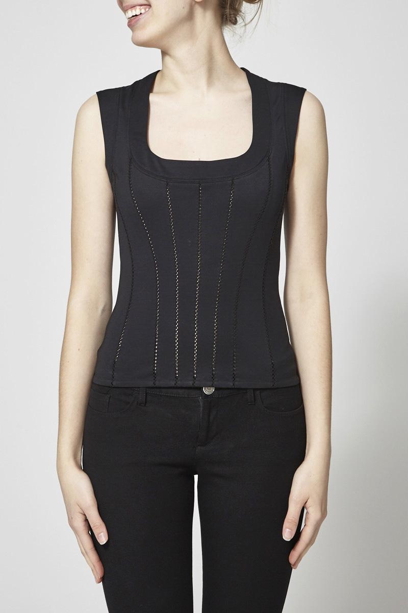 Dolce & Gabbana Black Top Corset Style