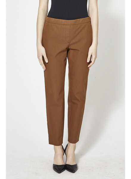 Theory BROWN ELASTIC WAISTBAND PANTS