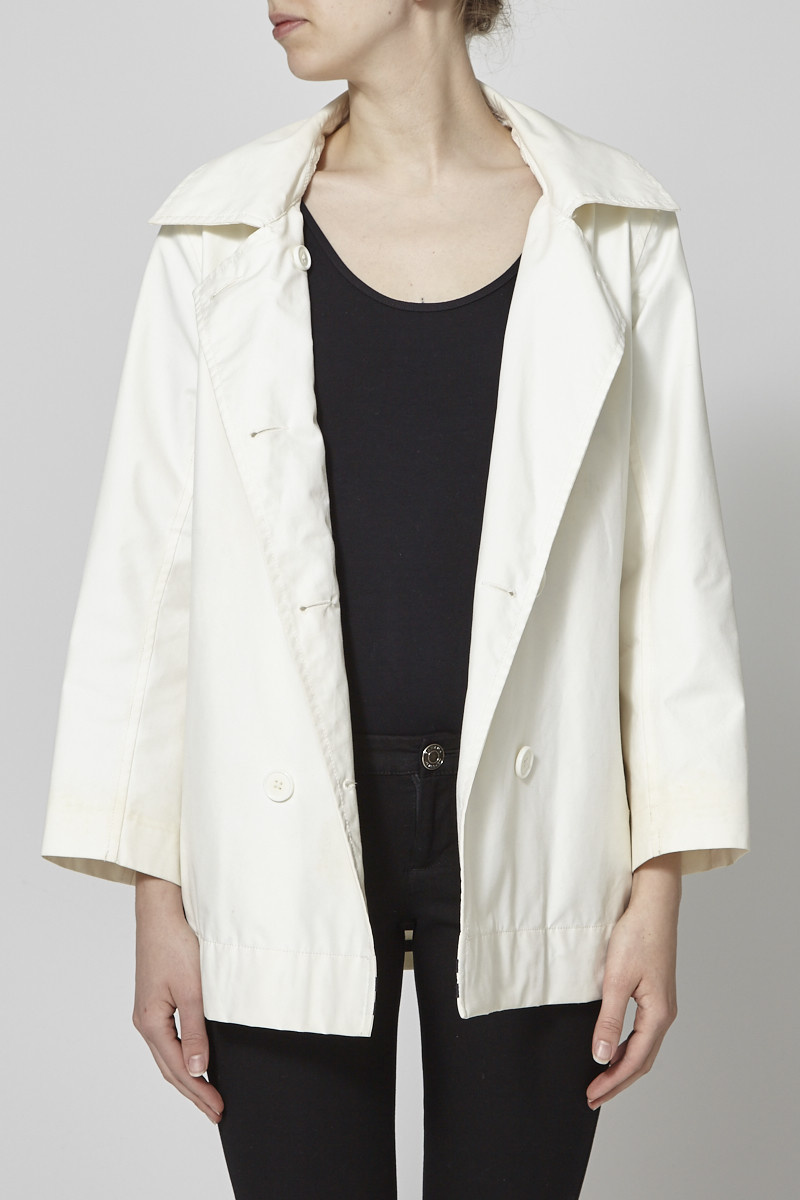 Aigle Off White Hooded Trench-Coat