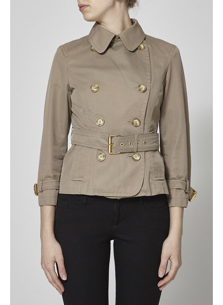 Weekend Max Mara TRENCH TAUPE EN COTON À CEINTURE AMOVIBLE