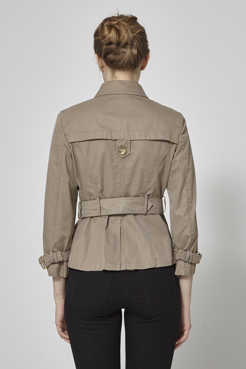 Weekend Max Mara Taupe Belted Cotton Trench-Coat