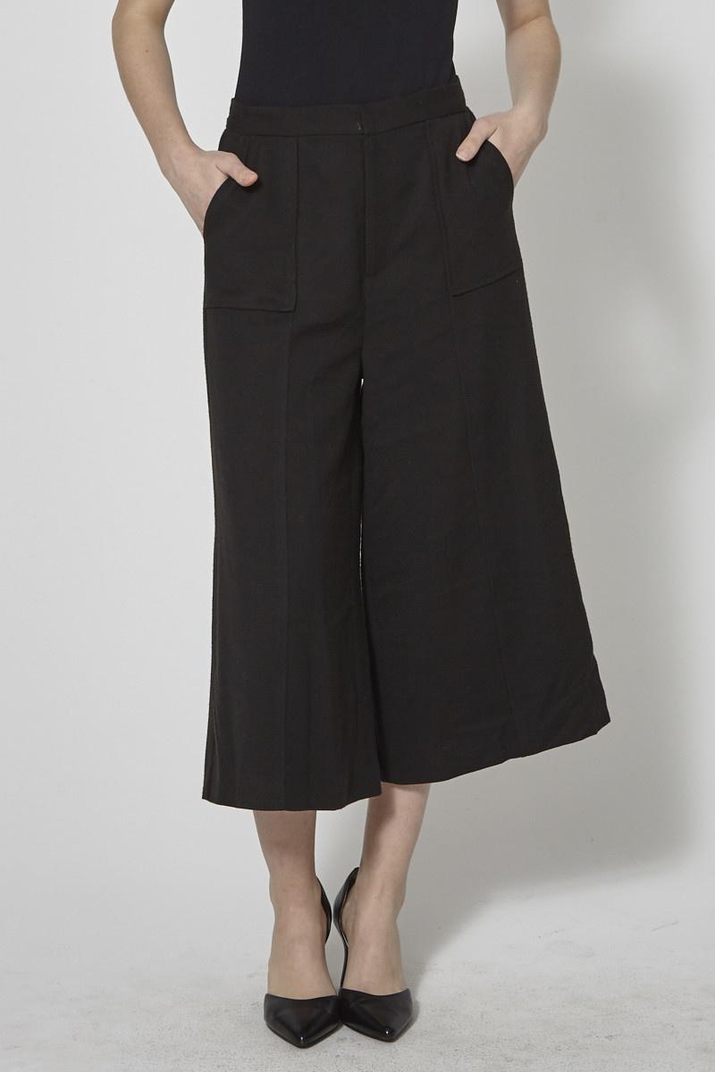 Darling Pantalon noir écourté jambe large - Neuf