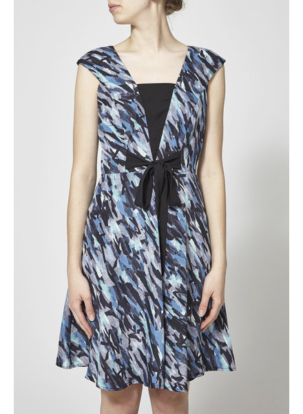 Marigold PALOMA BLACK AND NAVY DRESS - NEW