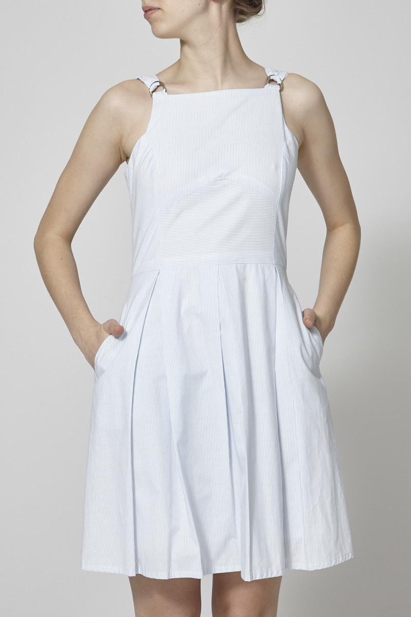 Marigold Robe en coton à rayures bleues et blanches