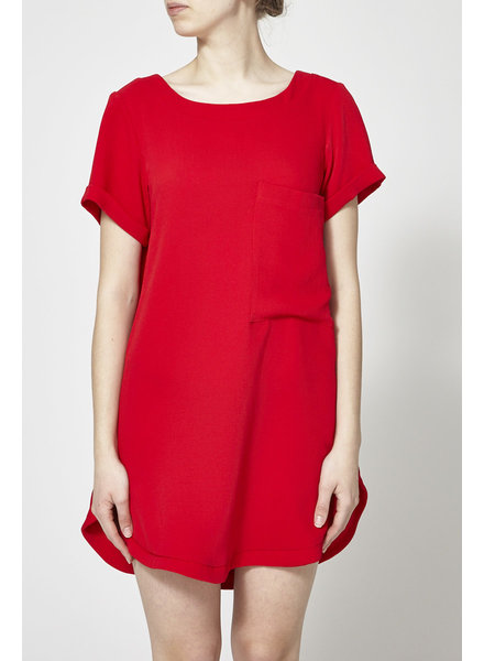 Marigold PAULA RED T-SHIRT DRESS - NEW
