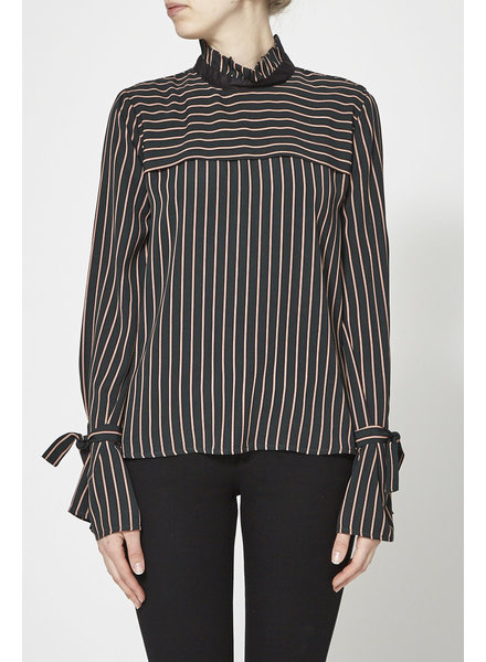 Marigold ELIZABETH EMERALD STRIPED TOP - NEW
