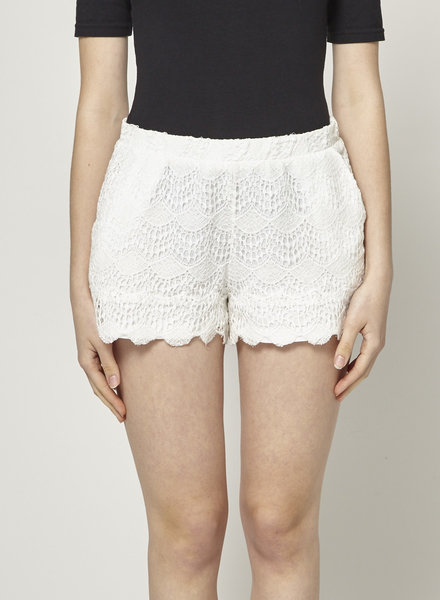 Ella Moss LACE CREAM SHORTS