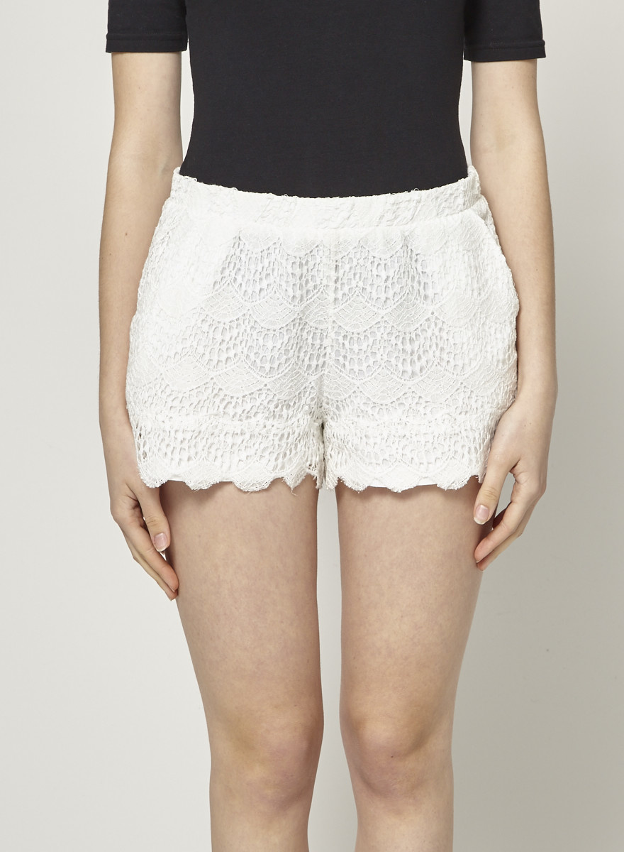 Ella Moss Lace Cream Shorts