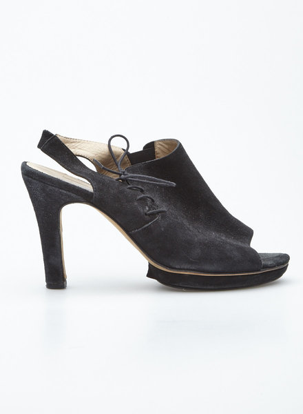 Repetto BLACK SUEDE PLATFORM SANDALS