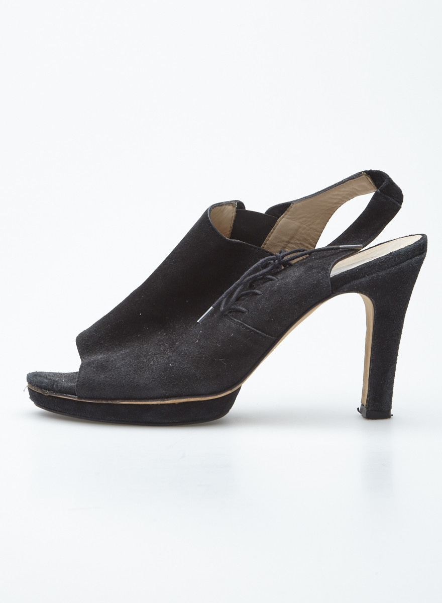 Repetto Black Suede Platform Sandals