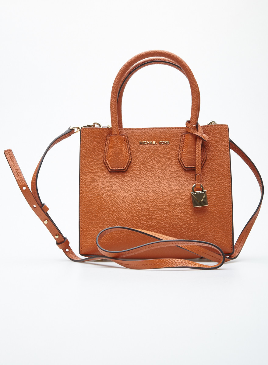 fa7b8086b43e Orange Pebbled Leather Small Crossbody Bag - MICHAEL MICHAEL KORS ...
