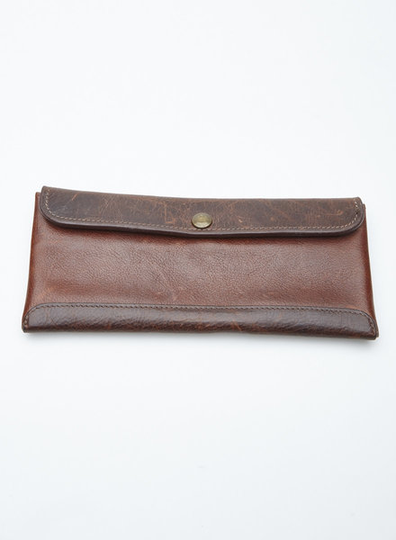 Moore & Giles SMITH BROWN LEATHER TRAVEL WALLET