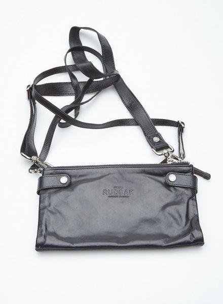 Rudsak BLACK LEATHER CLUTCH BAG
