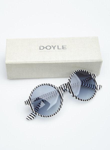 Doyle BLACK AND WHITE STRIPED SUNGLASSES
