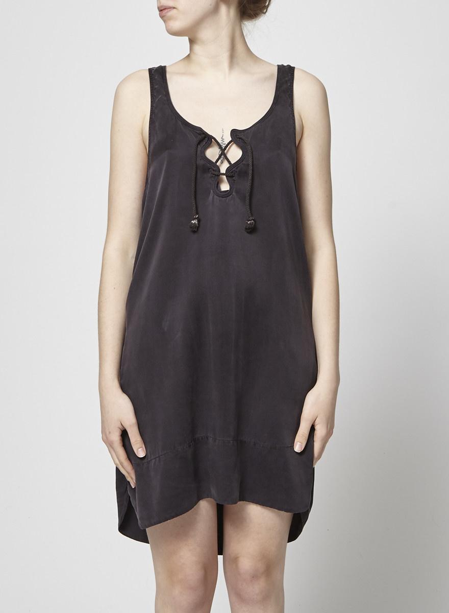 Isabel Marant Étoile Robe en soie noire à lacet