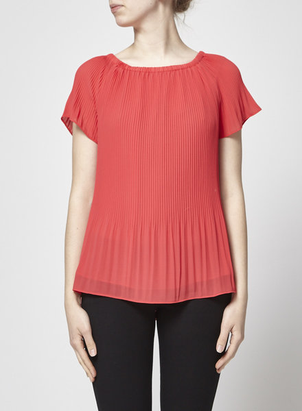 Michael Kors PLEATED CORAL PINK TOP