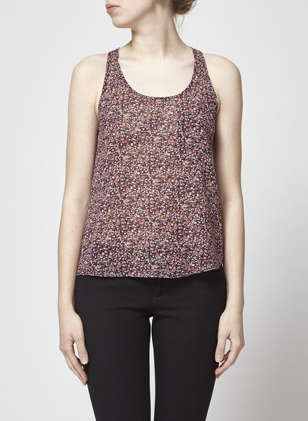 The Kooples FLORAL-PRINT COTTON TOP