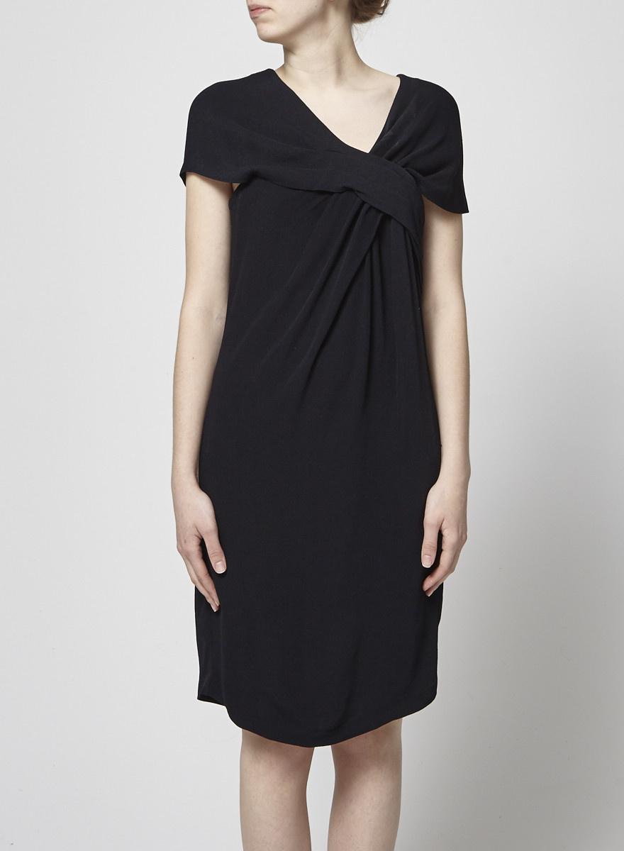 Thakoon Black Draped Dress