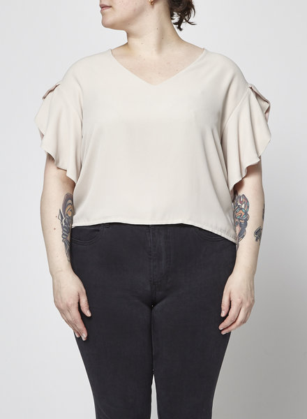 Marigold NUDE AND PINK FLYING SLEEVES TOP - NEW