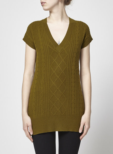 ça va de soi KHAKI CASHMERE, MERINO AND SILK SWEATER