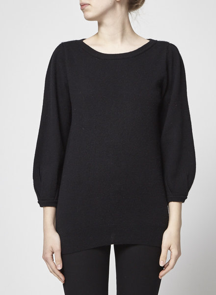 Banana Republic BLACK CASHMERE BALLOON  SLEEVES SWEATER