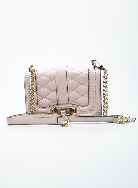 Rebecca Minkoff SMALL PINK LEATHER EMBOSSED BAG