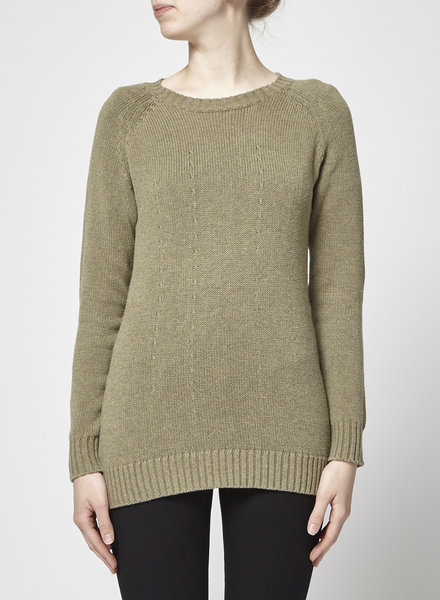 ça va de soi EGYPTIAN COTTON FOAM GREEN SWEATER
