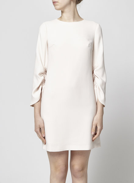 Club Monaco LIGHT PINK DRESS WITH PLEATED SLEEVES