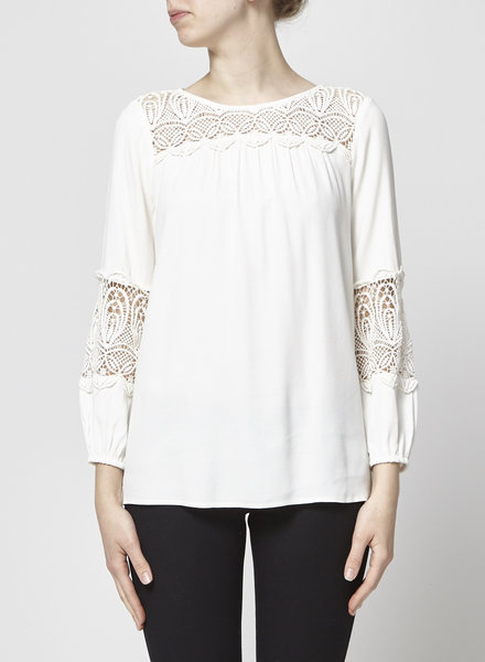 Joie OFF WHITE EMBROIDERY TOP