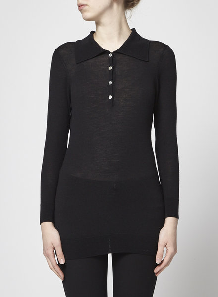 ça va de soi EXTRAFINE MERINO BLACK SWEATER
