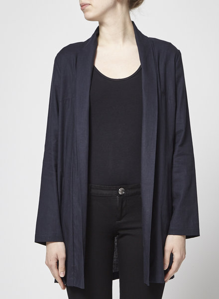 Atelier B NAVY COTTON AND LINEN JACKET