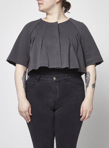 Theory PLEATED GRAY BOLERO
