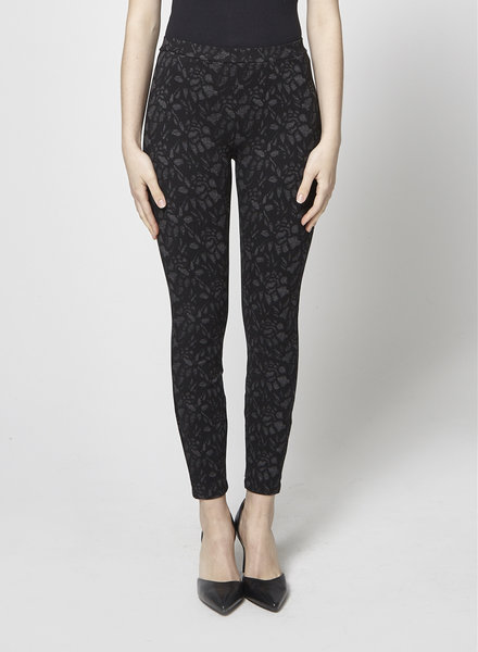 Joie BLACK FLORAL PRINTED LEGGINGS