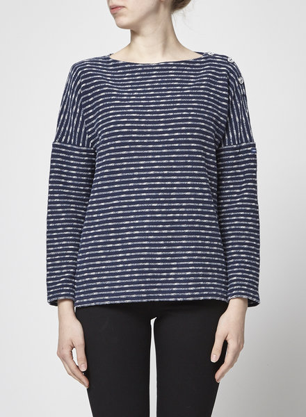 Saint James L'atelier NAVY STRIPES SWEATER