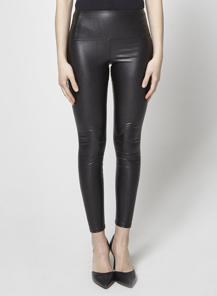 Wilfred Free HIGH WAIST FAUX-LEATHER BLACK LEGGING