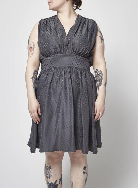 Balenciaga GREY SILK POLKA DOT DRESS