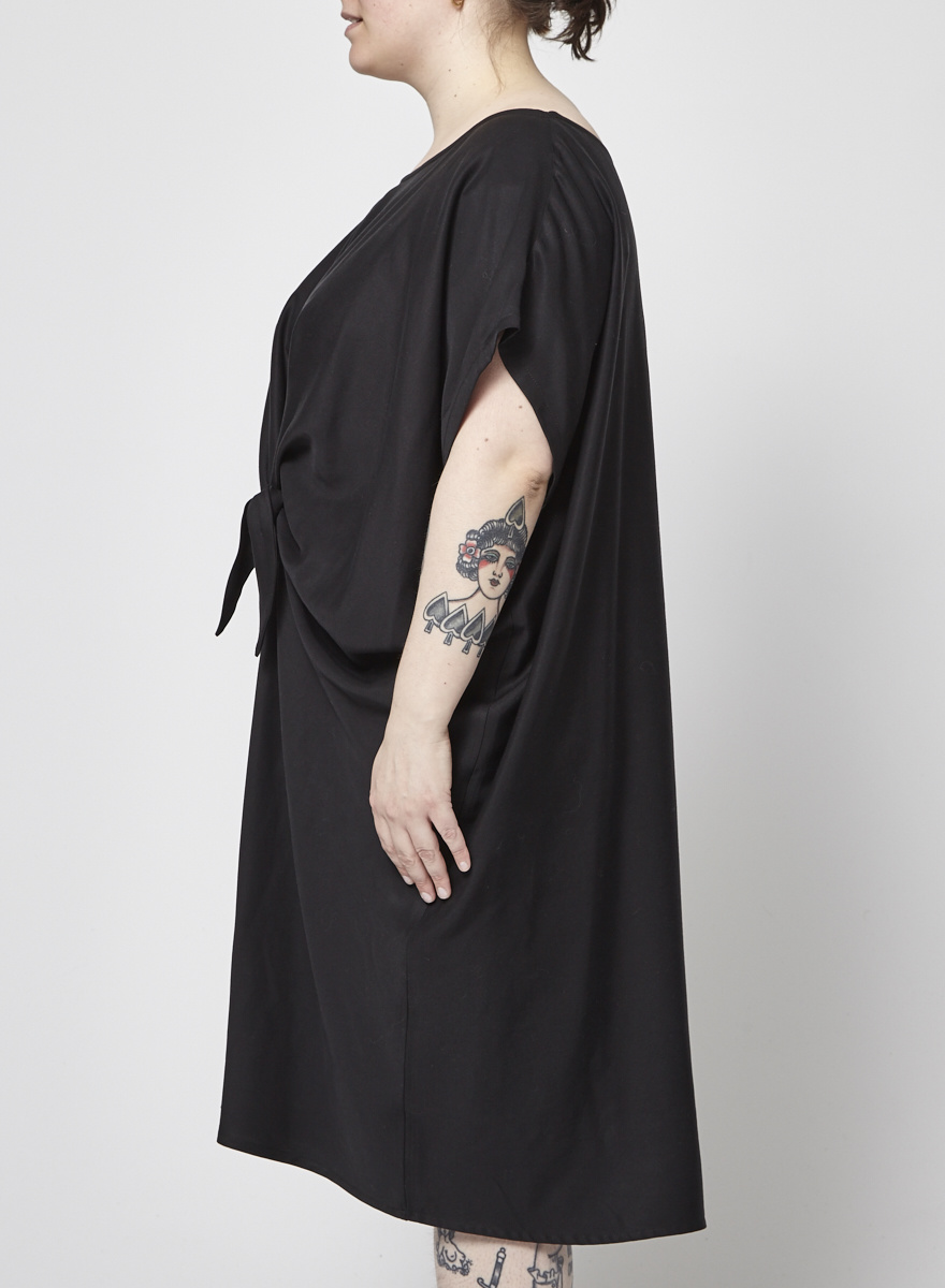 Noemiah Black Knotted Dress