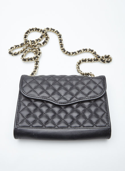 Rebecca Minkoff QUILTED BLACK LEATHER BAG