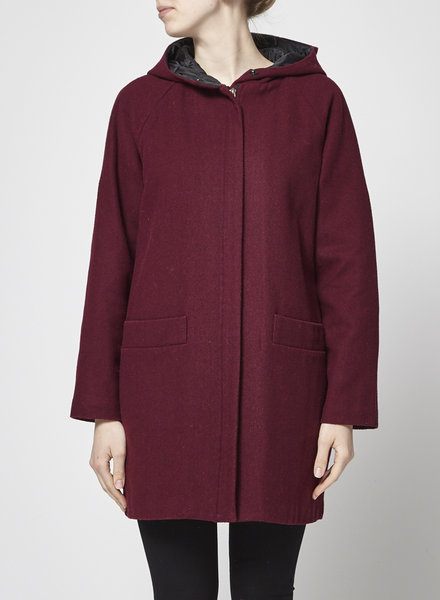 Valerie Dumaine PADEN BURGUNDY WOOL COAT