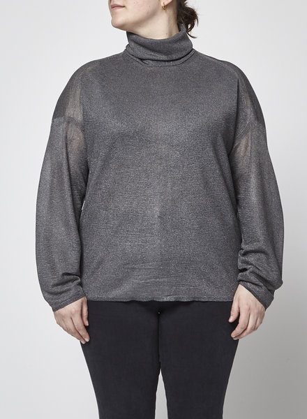 3.1 Phillip Lim SILVER TURTLENECK SWEATER