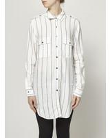 Rails OFF-WHITE STRIPED SHIRT DRESS